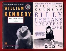 2 William Kennedy books: Ironweed + Billy Phelan's Greatest Game -Free Shipping!