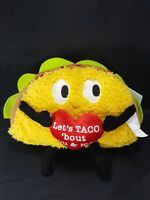 "Lets Taco Bout food You And Me Musical Singing Plush Taco Funny Gemmy Toy 11"" L"