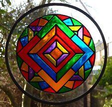 Stained Glass Mandala Roundel Suncatcher / Brand New