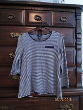 Girls Gap Kids Striped Navy Blue White Shirt XXL