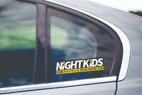 Night kids Slap Vinyl Decal Sticker AE86 Initial D EG6 JDM Skyline GTR Drift