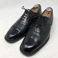 Mezlan Marque Spain Black Cap Toe Dress Oxfords Men's 10 M