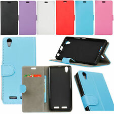 PU Leather Wallet Case Flip Cover Card Pocket Kickstand For Lenovo Mobile Phones