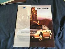 1999 Chevy Chevrolet Malibu Original Color Brochure Prospekt
