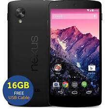 LG Nexus 5 D821 16GB Unlocked SIM-Free Smartphone Black GSM Used UK Free USB 4G