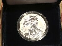 2013 W  U.S. MINT REVERSE PROOF AMERICAN .9993% SILVER EAGLE