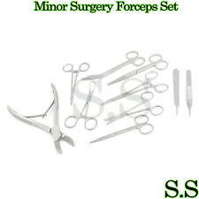 10 Instruments Minor Surgery Set Kit Forceps With Liston Bone Cutter Ss 602