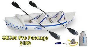 Sea Eagle SE330 Sport Kayak Pro (2 person) Package - Free Ship & 3 Year Warranty