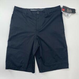 Under Armour Boys Showdown Golf Shorts Black Adjustable Waist Size 8 10 12 14 16