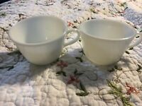 Vintage Set Of 2 Pyrex Milk glass Corning Ware Tea Cups Vintage coffee mugs Lot