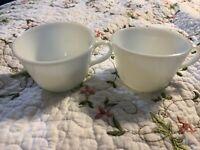 Vintage Set Of 2 Pyrex Milk glass Corning Ware Tea Cups Vintage coffee mugsLot