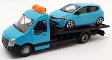 Burago 1/43 Scale #18 31400 - Renault Megane Car And Generic Flatbed Truck