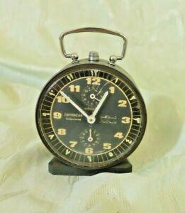 Vintage Alarm Clock Wehrle English & Arabic Numbers, Mechanical Alarm Clock #108