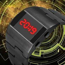 Mens Rare RED LED Digital Watch Black Vintage 1970s Retro Style. UK SELLER
