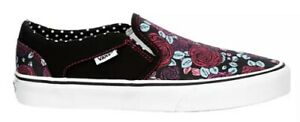 Vans Asher Slip On Women's Skate Shoes Sneakers Casual Canvas NIB