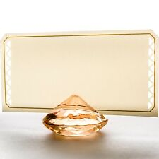 20 Pcs Gold Diamond Place Card Holder Table Confetti Party Wedding Home Decor