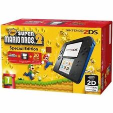 Nintendo 2DS Handheld Console - Black/Blue, with New Super Mario Bros 2