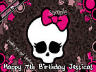 SKULL Monster High Edible ICING Image CAKE Decoration Topper Party Supply