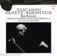 Toscanini Collection Vol. 41 - Beethoven: Concerts, Rubinstein, Heifetz - CD