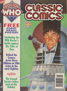 RARE: Doctor Who Classic Comics issue 11, with poster. % to charity do!