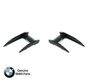 BMW Genuine Aero Flick Black Canards For 1 Series F40 - 51112468204