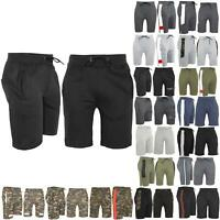 Mens Sweat Running Plain Pockets Fleece Stretchy Gym Knee Length Bottoms Shorts