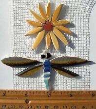 Dragonfly & Yellow Daisy Mesh Mounted China Mosaic Tile