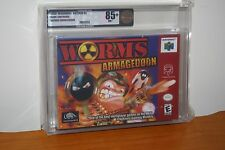 Worms: Armageddon (Nintendo 64 N64) NEW SEALED V-SEAM, MINT GOLD VGA 85+ RARE!