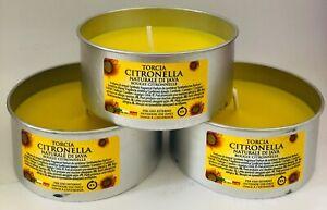 Citronella Garden Candle X3