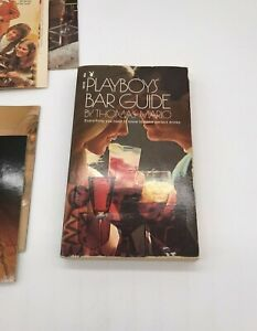 Playboy Bar Guide - Thomas Mario 1971 Paperback  Lot of 70's Cocktail Mix Books