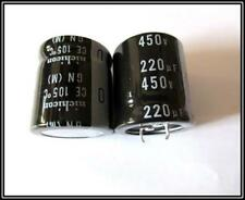 Elko Kondensator Capacitor 220µF 450V 105° SnapIn 30x30 RM10 1 Stück