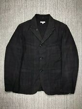 ENGINEERED GARMENTS, LOITER JACKET, MEN'S MEDIUM, USED, HOUNDS TOOTH CHECK GREEN