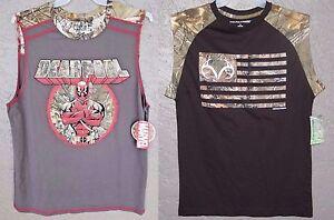 DEADPOOL Realtree XTRA Lot (2) MEN'S Tank Top New SLEEVELESS T-Shirt Size SMALL