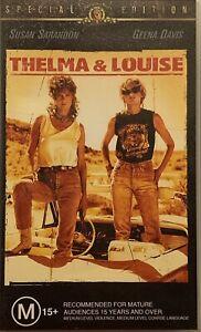 Thelma & Louise VHS Special Edition Susan Sarandon Geena Davis Brad Pitt 2002