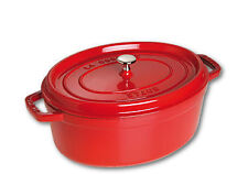 31cm Staub Cookware Cocotte Oval 5.4l Cherry Red