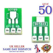 50x À faire soi-même SOT89 to DIP SOT223 Board Converter PCB Adaptateur pitch Pin 2.54 mm