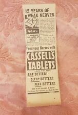 Cassell's Tablets 1941 Advertisement