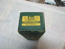 "Ace Standard Duty , Steel Letter Set , #386451 , 3/16"" , Vintage , Collectible"
