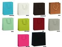 """JEWEL SIZE Deluxe LAMINATED Matte Gift Bag 6.5""""x3.5""""x6.5"""" Choose Color & Amount"""