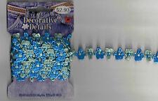 2 yards Blue/Green Trim Flower Braid Sewing Fabric Craft Supplies Embellishment