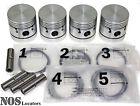 Austin A60, MGA Mk2, MG Magnette Mk4, 1622cc Piston Set wRings & Pins