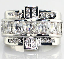 Engagement Bridal Wedding Ring - Size 5 Wide 3 Pc. Look 2.7 Ct. Cubic Zirconia
