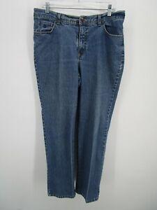 Gloria Vanderbilt Womens Blue Stretch Straight Leg High Rise Denim Jeans Size 12