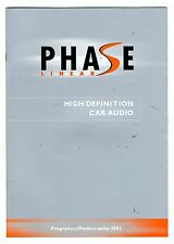 PHASE LINEAR - CAR AUDIO CATALOGO 2001