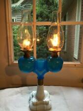 New ListingAntique Working 1800's Working Kerosene Oil Marriage Lamp Ripley & Co Hairline