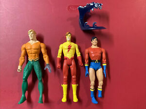 DC Direct Aquaman + Aqualad & Kid Flash Figure Lot
