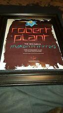 Robert Plant Shaken N Stirred Rare Original Promo Poster Ad Framed!