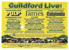 JAMES PULP CAST Guildford 2001 UK magazine ADVERT / Poster 8x6 inches