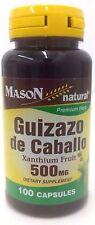 Mason Natural Guizazo De Caballo 500mg Capsules, Xanthium Fruit - 100 Ea …