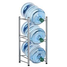 Liantral 3 Tier Water Cooler Jug Rack 5 Gal Bottle Storage Detachable Heavy Duty